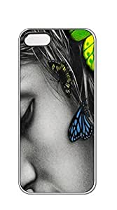 Hard Back Shell Case Cover case iphone 5s black - Large color Butterfly