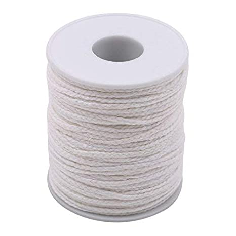 ROSENICE Braided Wick Candle Wick Spool 200 Feet for Candle DIY and Candle Making 1 Roll