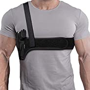 Deep Concealment Shoulder Holster, Universal Underarm Gun Holster for Men and Women, Fits Subcompact and Compa