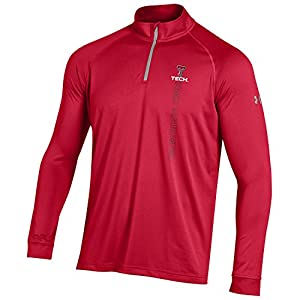 NCAA Texas Tech Red Raiders Quarter Zip T-Shirt, Small, Red