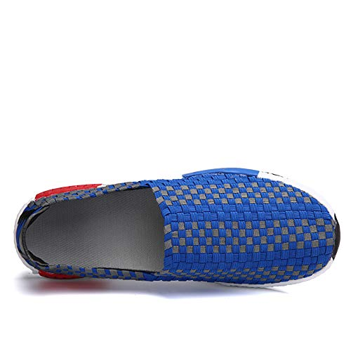 Elastic Blue And Casual Models Set Comfortable Sliding Sports Women Hand Water Knitted Couple Foot For Shoes Breathable Men 36 Blue Shoes Shoes q4HwCxCE
