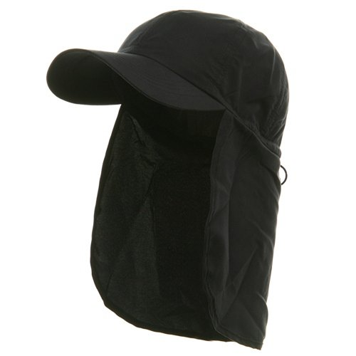 Flap Hat (02)-Navy OSFM (Flap E4hats Hat Cotton)