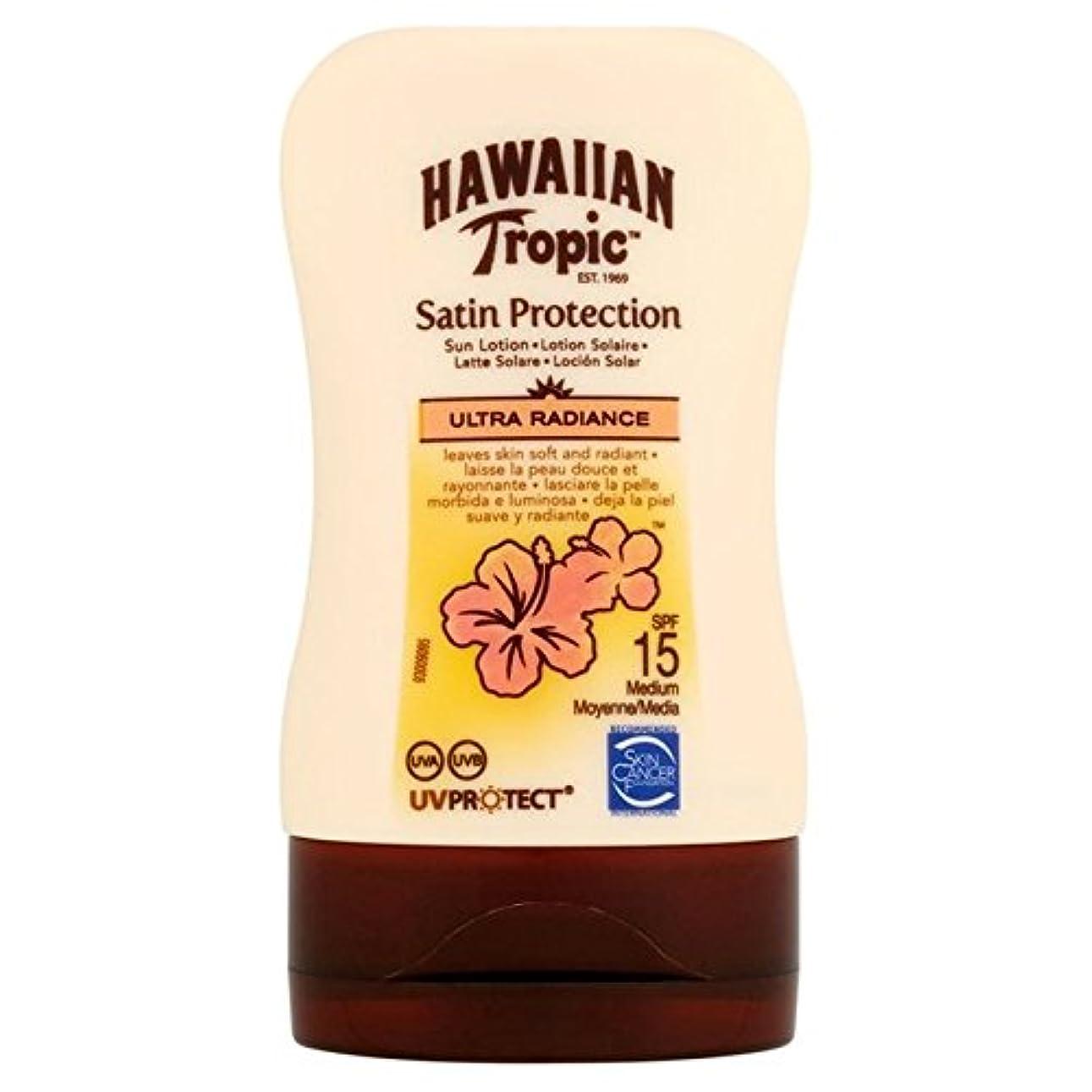 支配的パノラマずんぐりしたHawaiian Tropic Protective Lotion SPF15 Ultra Radiance 100ml - 南国ハワイの保護ローション15超放射輝度100ミリリットル [並行輸入品]