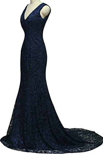 Bridal V Mermaid Formal Gown Long Dresses Bess Evening Neck Prom Women's Lace Pool RtqSwdI