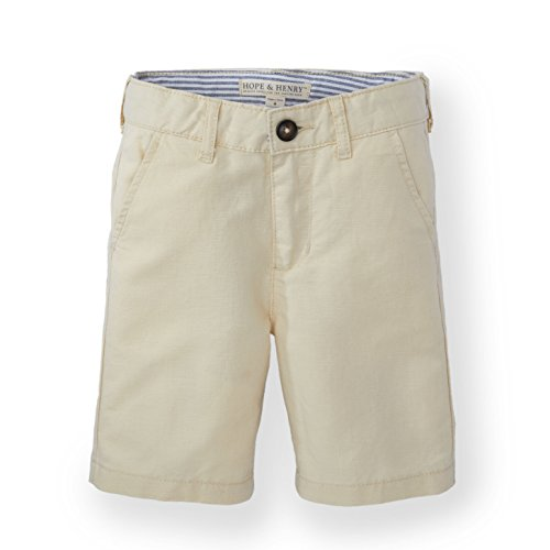 Hope & Henry Boys' Khaki Linen Short Made with Organic (Cotton Linen Khakis)