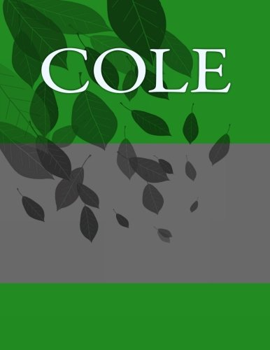 Cole: Personalized Journals - Write In Books - Blank Books You Can Write In ebook