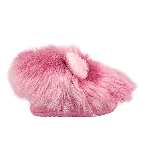 UGG Kids Baby Girl's Pinkipuff Solvi (Infant) Pink Azalea Medium M M ()