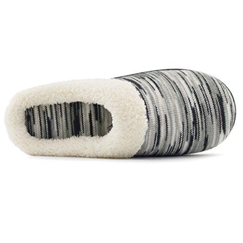 Pantofole In Lana Con Memory Foam Da Donna Rockdove, Scarpe Da Casa Lavabili Con Suola Esterna Per Interni Grigio Chiaro