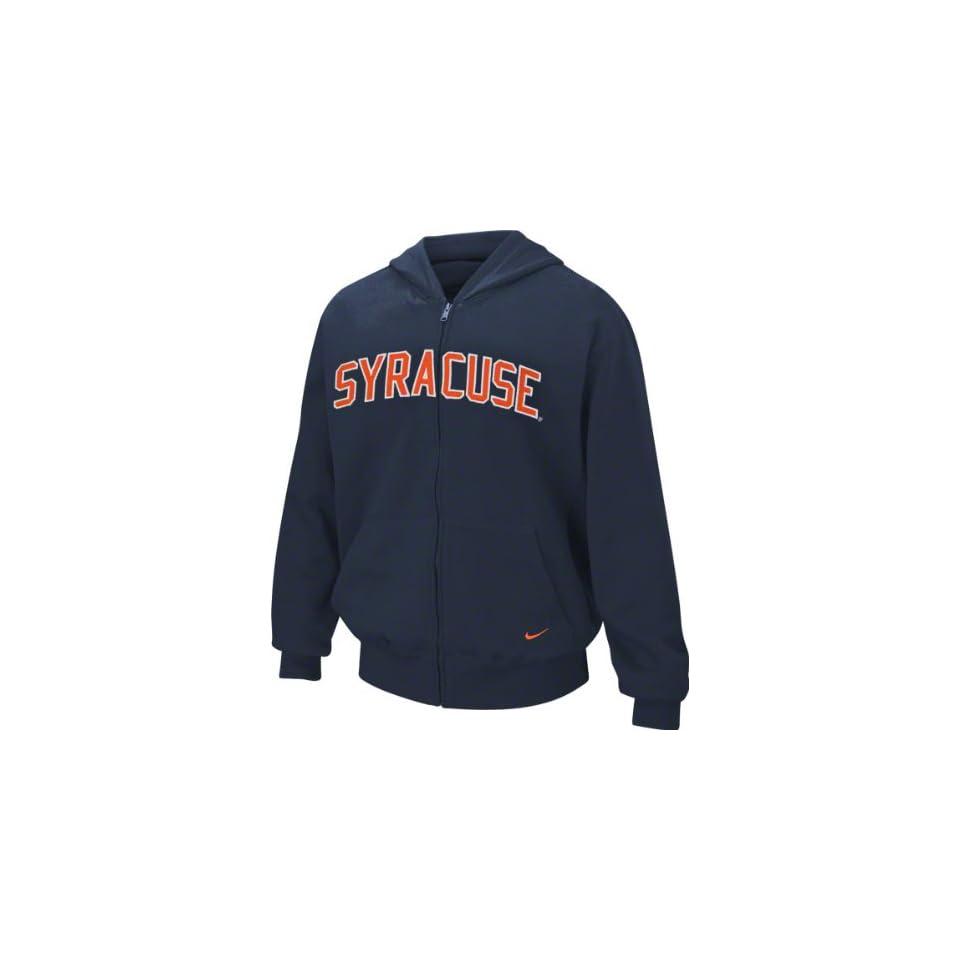 Navy Nike Classic Arch Full Zip Hooded Sweatshirt