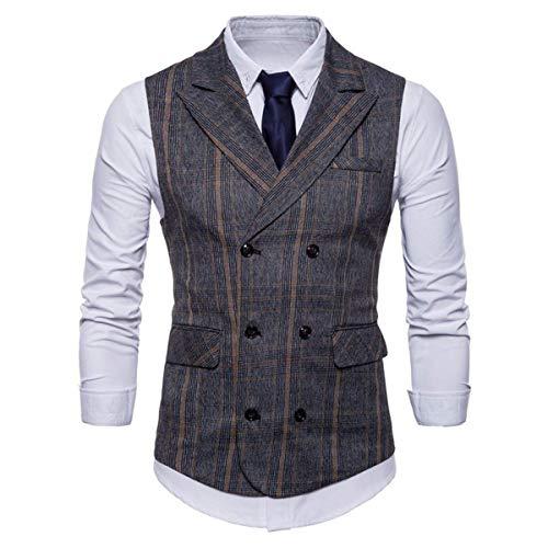 Blazer Partito Cotone Gilet Sposa In Uomo A Business Eleganti Abbigliamento V Fit Slim Scollo Grauschwarz Smoking Da q7t7xr8
