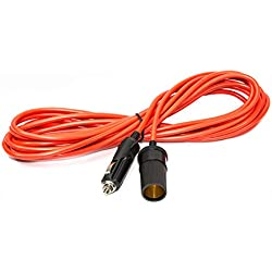ALEKO CLEC25 Car Outlet Plug Extension Cord With Cigarette Lighter Plug, 25 Feet 12V