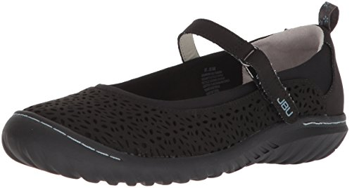 Jbu By Jambu Womens Granada Mary Jane Flat Black Solid