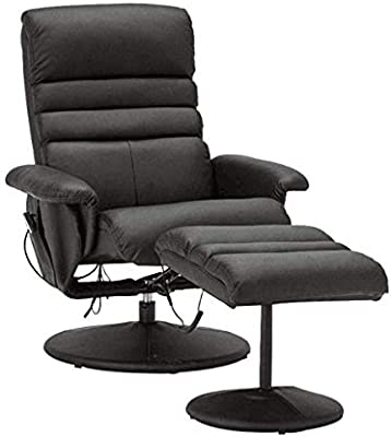 Tremendous Electric Artificial Leather Recliner Chair And Ottoman Swiveling Massage Tv Gaming Chair Swivel Seat For Video Game Office Home Theater 7902 Black Ncnpc Chair Design For Home Ncnpcorg