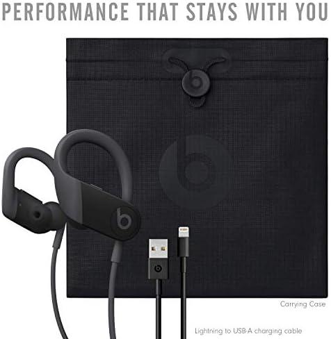 Powerbeats High-Performance Wireless Bluetooth Headphones - Black - MWNV2LL/A (Renewed)