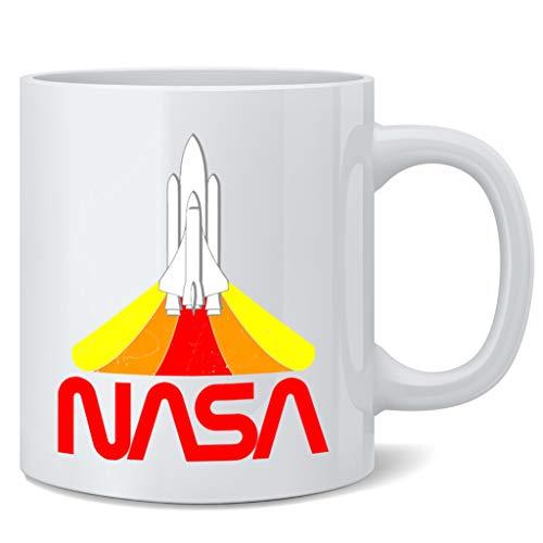 NASA Approved Blast Off Retro Worm Logo Coffee Mug Tea Cup 12 oz