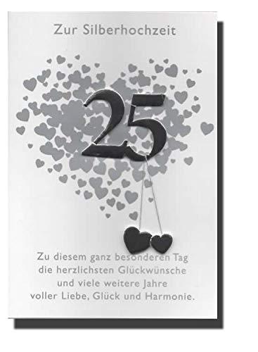 Tarjeta tarjeta de felicitación bodas de plata boda 25 años ...