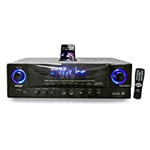 Pyle-Home 500W Stereo Receiver AM-FM Tuner/USB/SD/iPod Docking Station and Subwoofer Control PT4601AIU