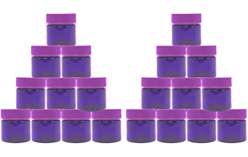 Small Plastic Jars with Lids. BPA Free Smell Proof Empty Jar