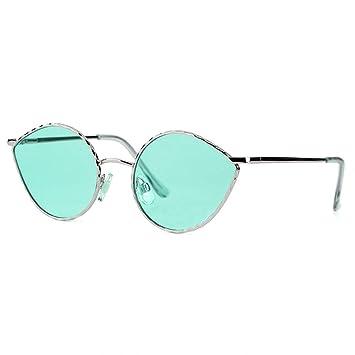 WAQWYQ Gafas Gafas de Sol Mujer Moda Plata Cristal Rosa ...