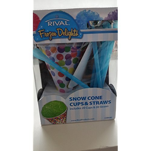 - Rival Snowcone Cups and Straws Set, by Rival