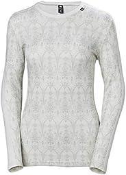 Helly Hansen Womens HH LIFA Merino Wool Graphic Print 2-Layer Crewneck Thermal Baselayer Top