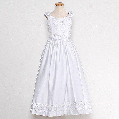 Rain Kids Toddler Girls 2T White Bridal Satin Adjustable Corset Dress by The Rain Kids