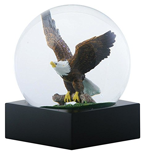Ebros Wildlife Wings of Glory Ascending Bald Eagle Glitter Water Globe Collectible Figurine 4.5
