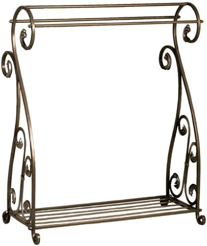 Welcome Home Accents Aged Bronze Scrolled Metal Quilt Rack