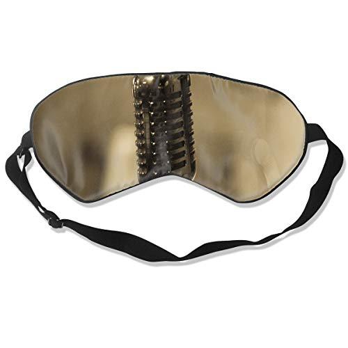 Sleep Mask Microphone Tumblr Photography Eye Mask Cover with Adjustable Strap Eyeshade for Travel, Nap, Meditation, Blindfold]()