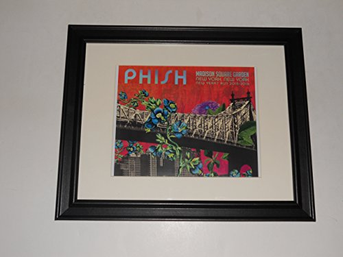 Framed Phish 2015 / 2016 Handbill New York MSG New Years Eve 14