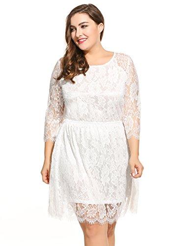 Plus Size Lace White Dress Amazon