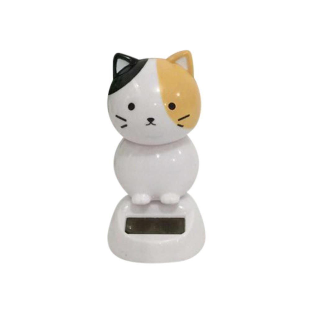 Jujunx Solar Powered Bobble Head Toy, Dancing Animal Swinging Animated Bobble Dancer Toy Car Decor Cat (❤️C)
