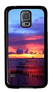 Samsung Galaxy S5 Multicolored Sunset PC Custom Samsung Galaxy S5 Case Cover Black