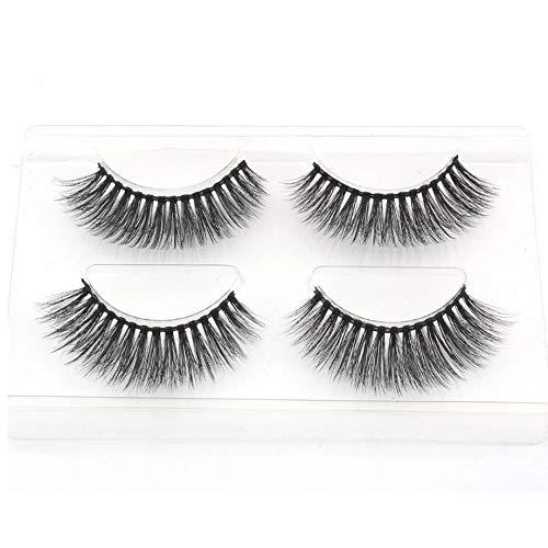 1/2 pairs natural false eyelashes fake lashes long makeup 3d mink lashes eyelash extension mink eyelashes for beauty,747]()