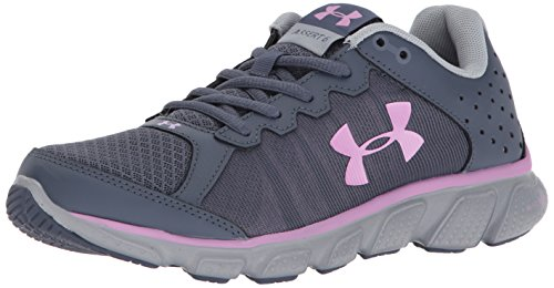 Under Armour Women's Micro G Assert 6 Running Shoe, Apollo Gray (104)/Overcast Gray, 10