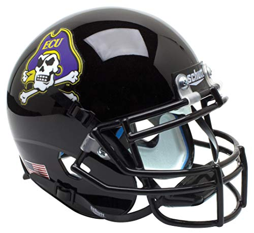 Schutt NCAA East Carolina Pirates Mini Authentic XP Football Helmet, Jolly Roger Black Alt. 2