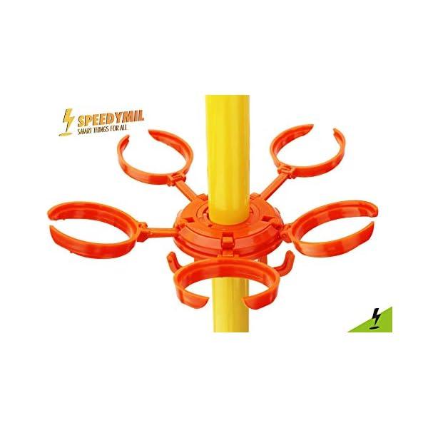 Speedymil Porta Bicchieri e Porta Borse per ombrelloni (Arancione) 3 spesavip