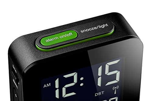 Braun BNC008BK-RC LCD Quartz Alarm Clock