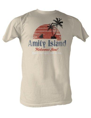 Jaws Amity Island Mens T-Shirt XL