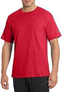 Champion Men's Classic Jersey T-Shirt, Scarlet, M