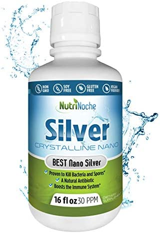 NutriNoche Colloidal Silver Mineral Liquid Supplement - Daily Immune System Support - Colloidal Nano Silver 30 PPM (8 Ounces)