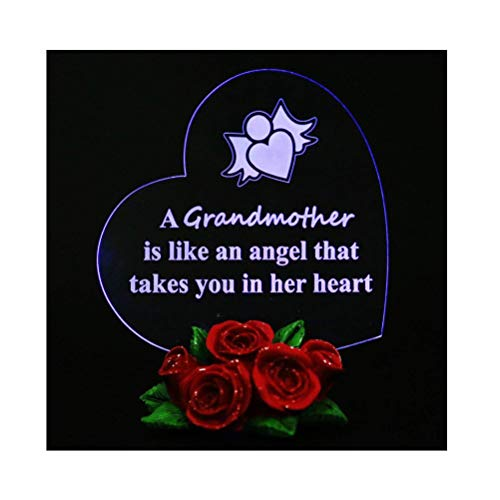 Grandmother Heart Shaped LED Gift Gifts for Grandma, Grandmother (Best Gifts For Grandmother Grandmas)
