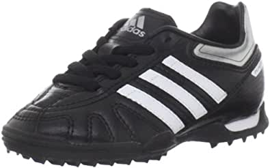 adidas Puntero VII TRX TF Soccer Cleat (Toddler/Little Kid/Big Kid),Black/Running White/Metallic Silver,8.5 M US Toddler