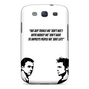 Galaxy S3 Case Cover Skin : Premium High Quality Fight Club Quote Case