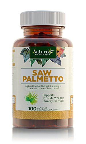 Saw Palmetto For Prostate Health - Extract & Berry Powder Complex to Promote Healthy Urination Frequency & Support Flow - May Help Naturally Block DHT To Slow Hair Loss - 500 mg Capsule Supplement (Raw Berry Extract Wild)