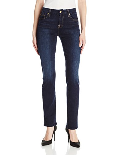 7 For All Mankind Women's Kimmie Straight in Dark Moonlight Bay
