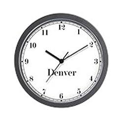 CafePress Denver Classic Newsroom Wall Clock Unique Decorative 10 Wall Clock