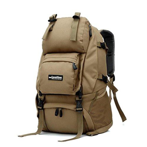 Wmshpeds Mochila de viaje de gran capacidad mochila al aire libre impermeable mochila de viaje de camuflaje 40L bolso de alpinismo B