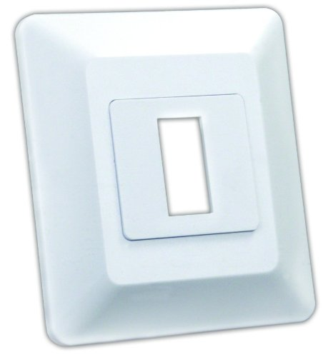 JR Products 13605 Switch Base and Face Plate - Single (Base Faceplate)