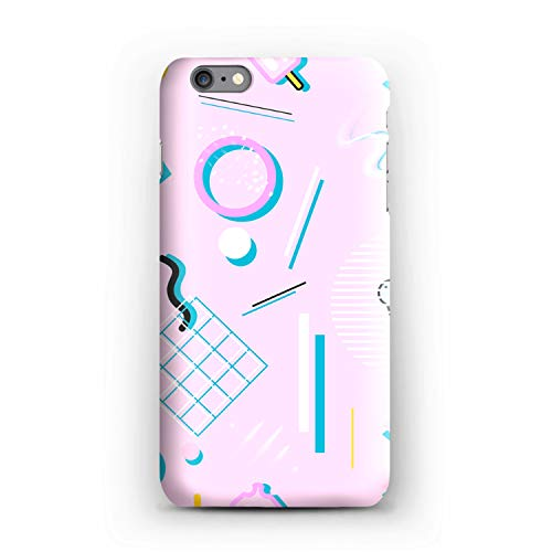 Compatible Memphis Geometry Lesson Soft Gel Case/Replacement for, if Applicable for iPhone 6s Plus